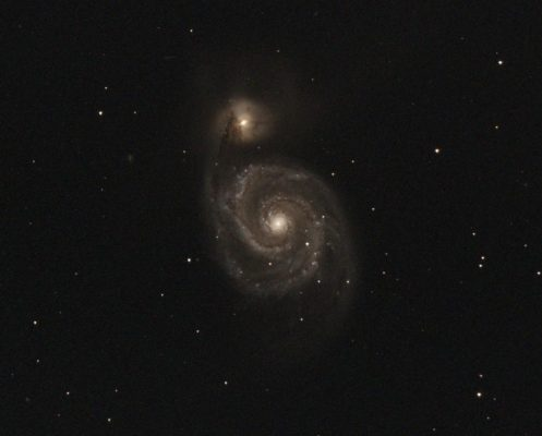 M51, NGC 5194 - Whirlpool Galaxy - in Canes Venatici